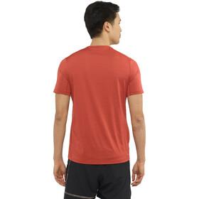 Salomon XA Camo Camiseta Manga Corta Hombre, rojo